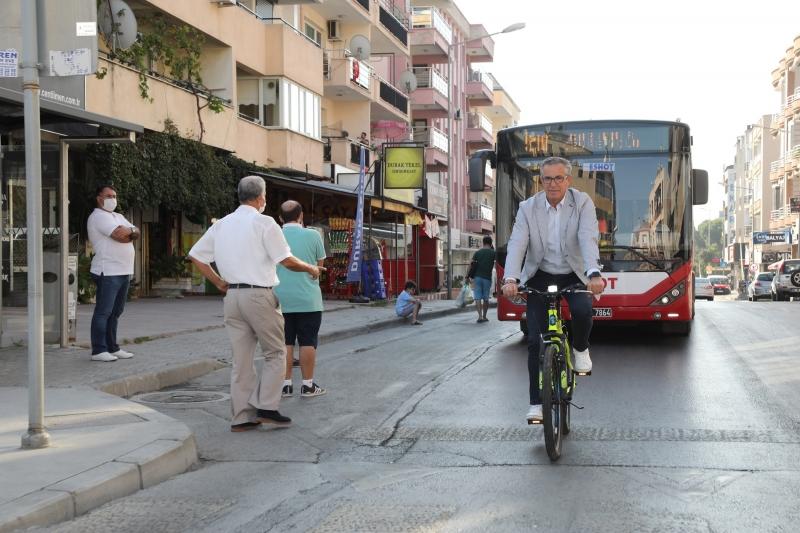 Başkan Arda'dan bisikletli mesai