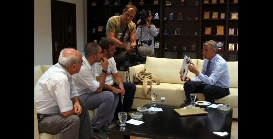 Başkan Şenol, Yunan Televizyonuna  konuştu Çocuklara barışı öğretelim
